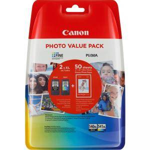 Комплект мастилени касети Canon PG-540XL/CL-541XL Photo Value Pack, 5222B013AA