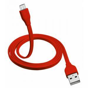 Кабел TRUST Flat Micro-USB Cable 1m - red, 20137