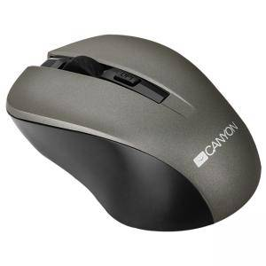 Мишка CANYON Mouse CNE-CMSW1(Wireless, Optical 800/1000/1200 dpi, 4 btn, USB, power saving button), Graphite, CNE-CMSW1G
