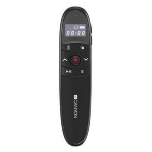 Мултимедийна показалка CANYON 2.4Ghz laser wireless presenter, red laser indicator, LCD display timer, Black, Черна, CNS-CP03