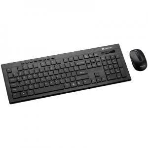 Клавиатура и Мишка CANYON Multimedia 2.4GHZ wireless combo-set, keyboard 105 keys, slim and brushed finish design, chocolate key caps. CNS-HSETW4-BG