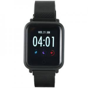 Смарт часовник Smart watch, 1.22inch colorful LCD, 2 straps, metal strap and silicon strap, metal case, IP68 waterproof, multisport mode. CNS-SW72BB