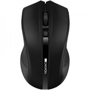 Мишка CANYON 2.4GHz wireless Optical Mouse with 4 buttons, DPI 800/1200/1600, Black, 122x69x40mm, 0.067kg. CNE-CMSW05B