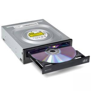 Оптично устройство, Hitachi-LG GH24NSD1 Internal DVD-RW S-ATA, Super Multi, Double Layer, M-Disk Support, Bare Bulk, Черен, GH24NSD5.ARAA10B