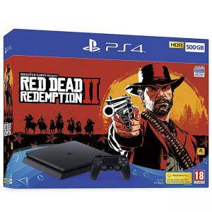 Конзола Sony PlayStation 4 500GB Console (Black) with Red Dead Redemption 2 Bundle