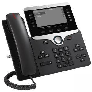 IP телефон Cisco IP Phone 8811, High-resolution (800 x 480), 2x10/100/1000Base-T, Charcoal, CP-8811-K9=