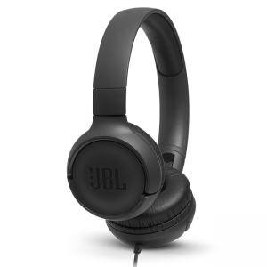 Слушалки JBL T500BT, JBL Pure Bass Sound, 3.5 mm жак, черен, JBLT500BLK