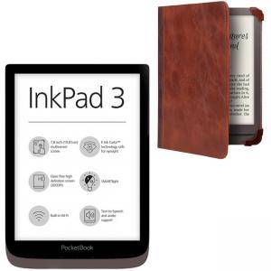 eBook четец PocketBook InkPad 3 PB740 кафяв, 7.8, POCKET-BOOK-PB740