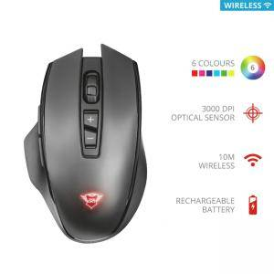 Безжична мишка TRUST GXT 140 Manx Rechargeable Wireless Mouse, 3000 DPI, LED подсветка, 21790
