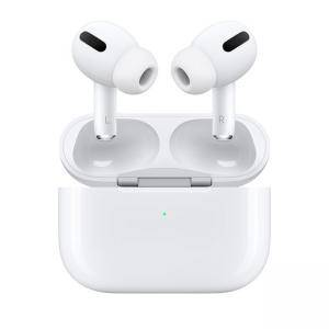 Безжични слушалки Apple AirPods Pro с калъф за зареждане, Bluetooth 5.0, Active Noise Cancellation, бял, MWP22ZM/A
