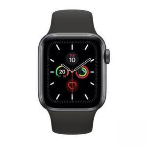 Смарт часовник Apple Watch Series 5 GPS (40mm) Space Grey Aluminium Case with Black Sport Band, MWV82BS/A