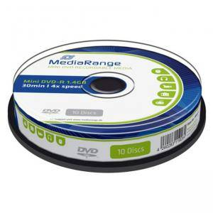 Mini DVD-R MediaRange 1.4GB|30min 4x speed, 10 бр. в Шпиндел, MR434