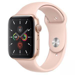 Смарт часовник Apple Watch Series 5 GPS (40mm) Gold Aluminium Case with Pink Sport Band