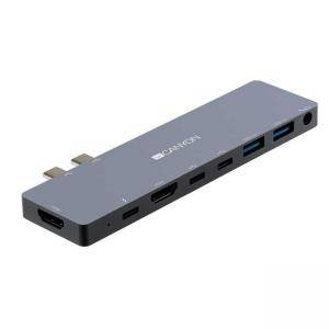 Докинг станция 8-в-1, Multiport, USB 3.0 x 2, HDMI x 2, Audio Line-In x 1, USB Type-C x2, CNS-TDS08DG