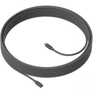 Кабел Logitech MeetUp Mic Extension Cable 10m, Графит, 950-000005