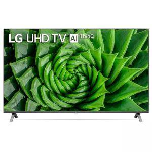 Телевизор, LG 55UN80003LA, 55 4K IPS UltraHD TV 3840 x 2160, DVB-T2/C/S2, webOS Smart TV, ThinQ AI, Quad Core Processor 4K, WiFi 802.11ac, HDR10 PRO 4K/2K, AI Sound, Voice Controll, Miracast / AirPlay 2, HDMI, CI, LAN, USB, Bluetooth, 2 Pole, Rocky Black,