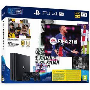 Конзола Sony PlayStation 4 Pro 1TB (PS4 Pro 1TB) + FIFA 21 + DualShock 4 Controller + PSPlus 14 days + Ваучер FIFA 21 Ultimate Team