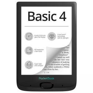 eBook четец PocketBook Basic 4, E Ink Carta, 212 DPI, Черен, 11257